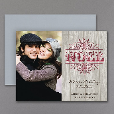 Rustic Noel - Photo Holiday Magnet