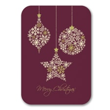 Snowy Ornaments - Christmas Card