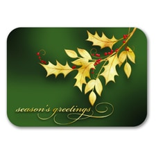 Golden Holly - Holiday Card