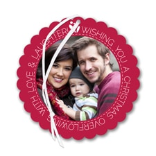 Wishes Wreath - Photo Holiday Card Ornament
