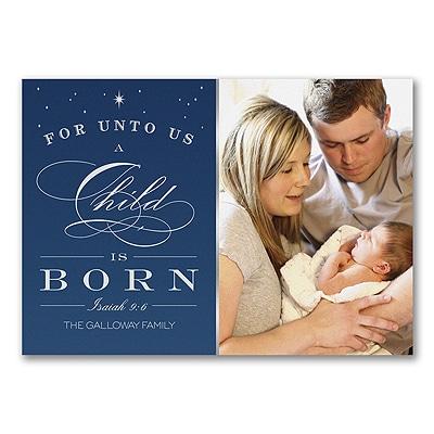 Shining Child - Photo Holiday Card
