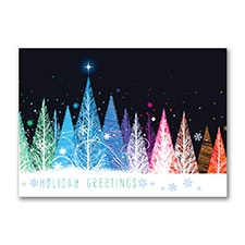 Colorful Trees - Holiday Card