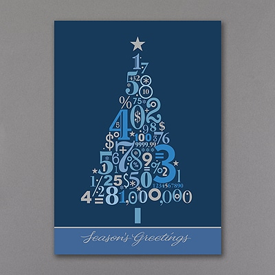Christmas Tree Numbers - Holiday Card