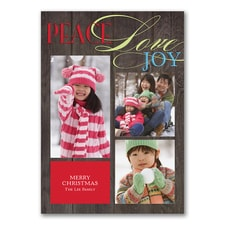Inspired Wishes - Photo Holiday Card