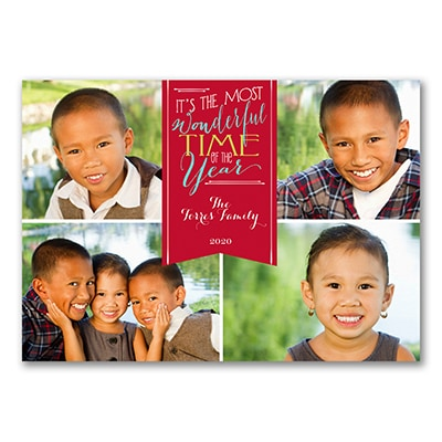 Most Wonderful - Photo Holiday Card