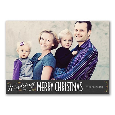 Merry Wishes - Holiday Card
