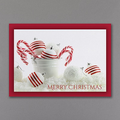 Peppermint Christmas - Christmas Card