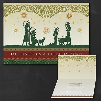 Nativity Silhouette - Christmas Card