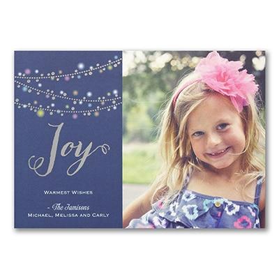 Joyful Lights - Photo Holiday Card