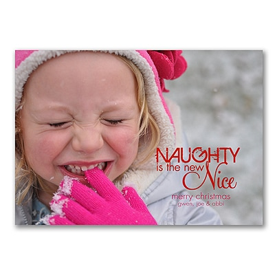 Naughty is the New Nice - Photo Holiday Card