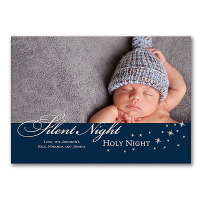 Silent Night - Photo Holiday Card