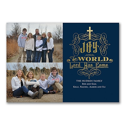 Joy to the World - Photo Christmas Card