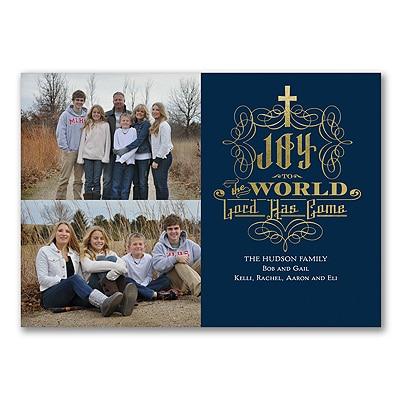 Joy to the World - Photo Christmas Card