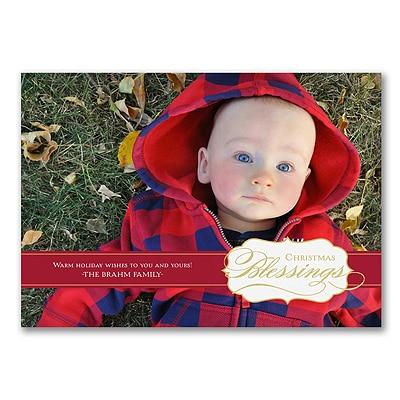 Big Blessings - Photo Christmas Card