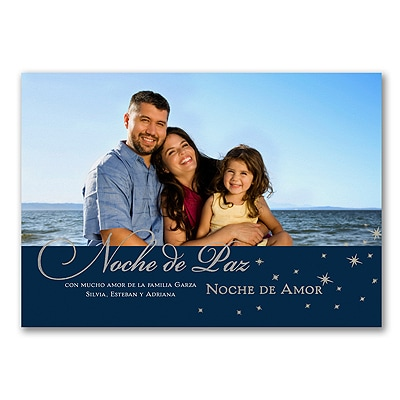Silent Night - Photo Holiday Card - Spanish