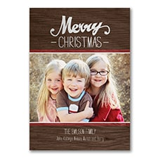 Rustic Merry - Photo Christmas Card