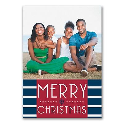 Nautical Season - Photo Christmas Card