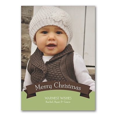 Banner Greeting - Photo Christmas Card