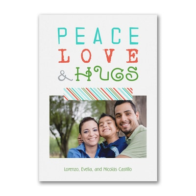 Peace Love & Hugs - Postcard