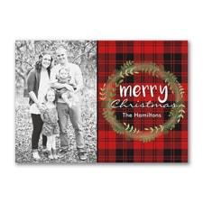 Merry Christmas Plaid - Postcard