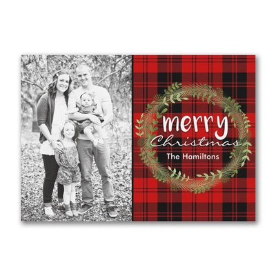 Merry Christmas Plaid - Postcard