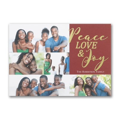 Peace Love & Joy - Postcard