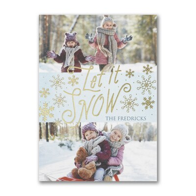 Let it Snow Flakes - Postcard