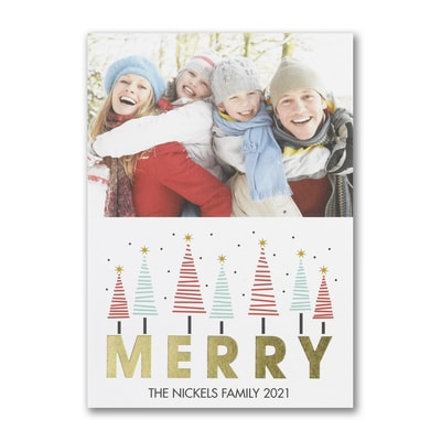 Merry Trees - Postcard