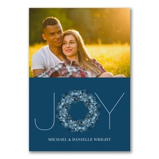 Joy Typography Photo Card - Blue - UNICEF