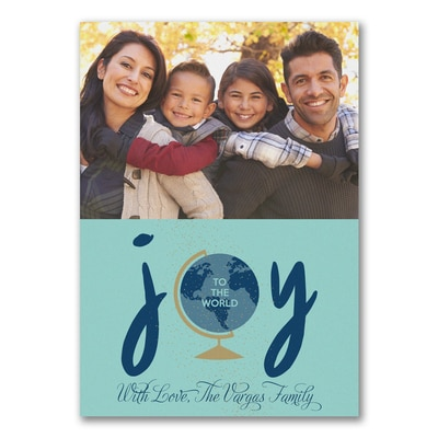 Joyous World Photo Card - Blue - UNICEF