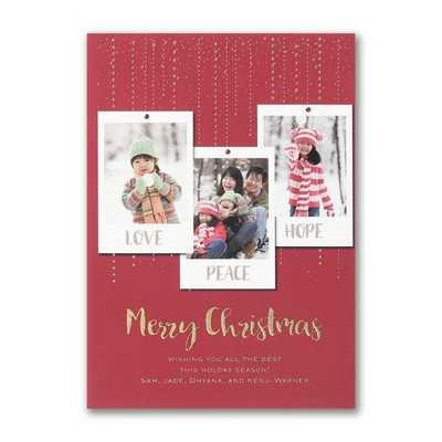 Dazzling Christmas - Holiday Card