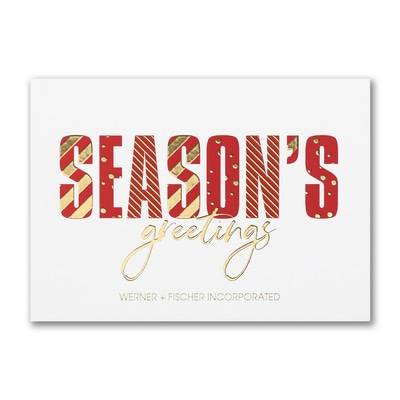 Decorative Seasons - Holiday Card