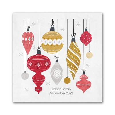 Ornament Collection Napkin - Beverage