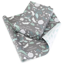 Holiday Floral Reversible Wrapping Paper