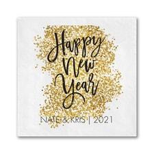 Glittery New Year Napkin - Beverage