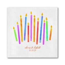 Colorful Candles Napkin - Beverage