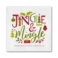 Jingle & Mingle Napkin - Beverage