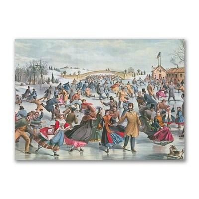Winter on the Skating Pond in Central Park, 1862