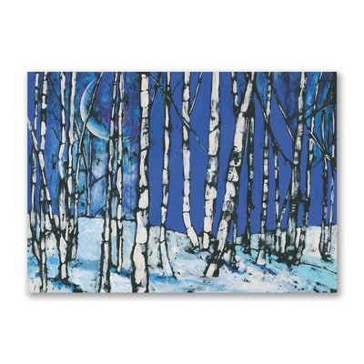 Moonlit Birch Trees - Courage Kenny Cards