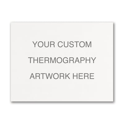 Medium Sized Thermography Flat Card - Horizontal