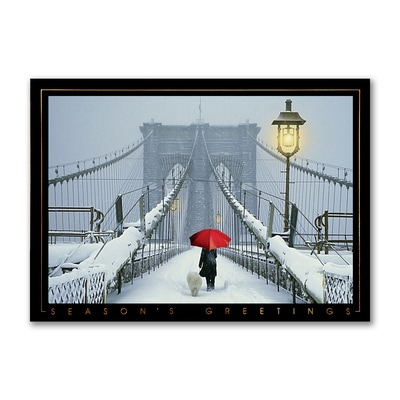 New York Bridge - Holiday Card