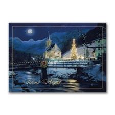 Moonlit Church - Christmas Card