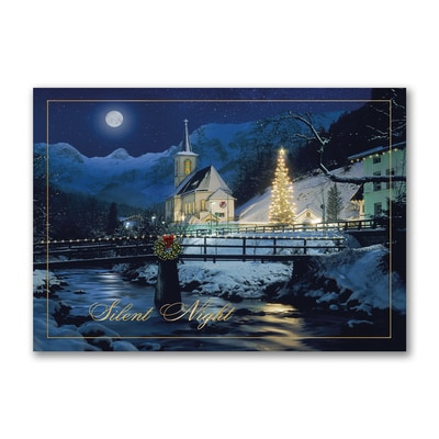 Moonlit Church - Christmas Card