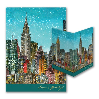 Manhattan Cityscape - American Artist - Roxie Munro