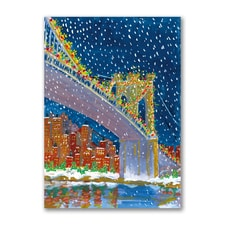 Brooklyn Bridge at Night - American Artist - Ellen Sklar