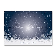 Flurried Greetings - Holiday Card