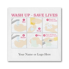 Wash Up - Save Lives- Ooh la Color Beverage Napkin