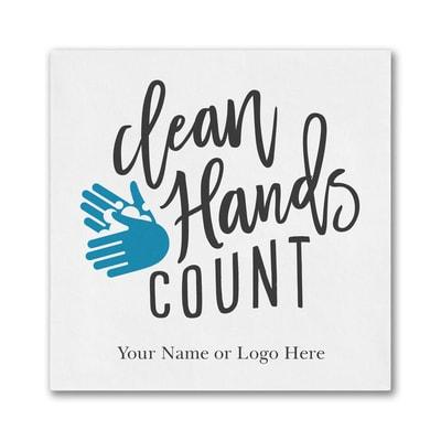 Clean Hands Count - Ooh la Color Beverage Napkin