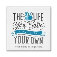 The Life You Save - Ooh la Color Beverage Napkin