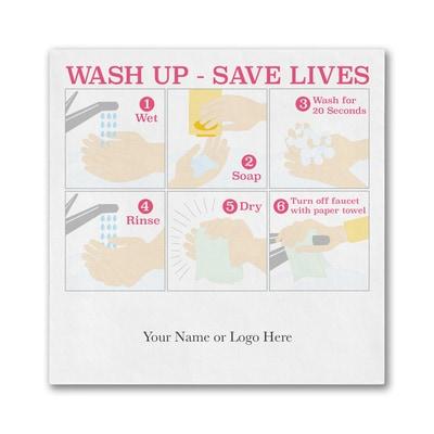 Wash Up - Save Lives- Ooh la Color Luncheon Napkin